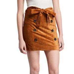 Moon River Corduroy Mini Skirt